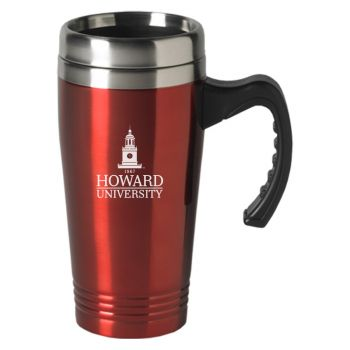 Howard University-16 oz. Stainless Steel Mug-Red
