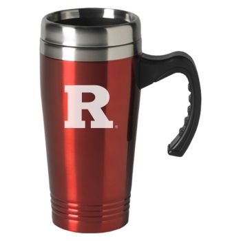 Rutgers University-16 oz. Stainless Steel Mug-Red