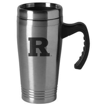 Rutgers University-16 oz. Stainless Steel Mug-Silver