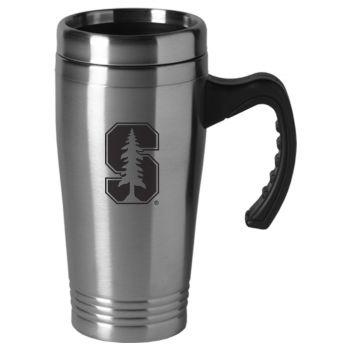 Rice University-16 oz. Stainless Steel Mug-Silver