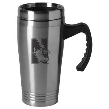 Northwestern University-16 oz. Stainless Steel Mug-Silver