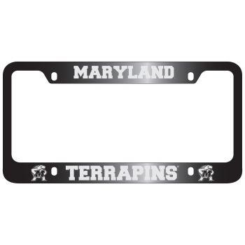University of Maryland-Metal License Plate Frame-Black