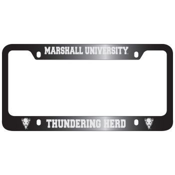 Marshall University -Metal License Plate Frame-Black