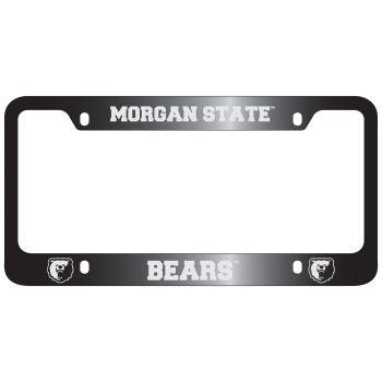 Morgan State University -Metal License Plate Frame-Black