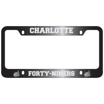 University of North Carolina at Charlotte -Metal License Plate Frame-Black