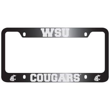 Washington State University -Metal License Plate Frame-Black