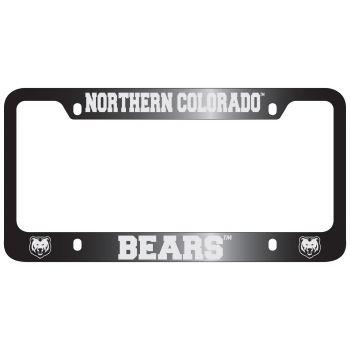 University of Northern Colorado -Metal License Plate Frame-Black