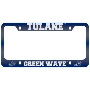Tulane University -Metal License Plate Frame-Blue