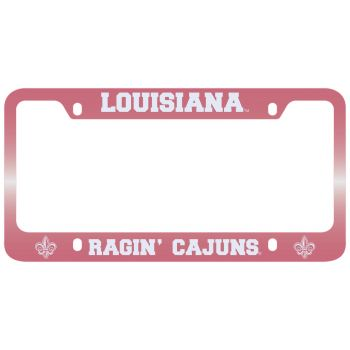 University of Louisiana at Lafayette-Metal License Plate Frame-Pink