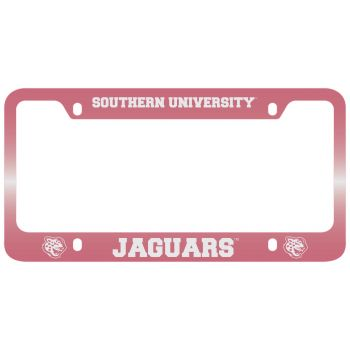 Southern University -Metal License Plate Frame-Pink