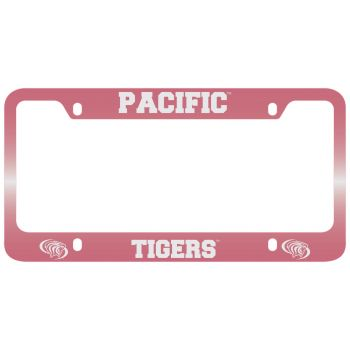 University of The Pacific -Metal License Plate Frame-Pink