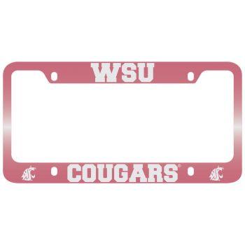 Washington State University -Metal License Plate Frame-Pink