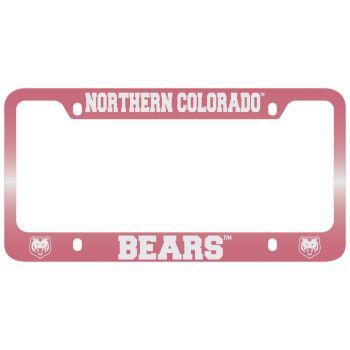 University of Northern Colorado -Metal License Plate Frame-Pink