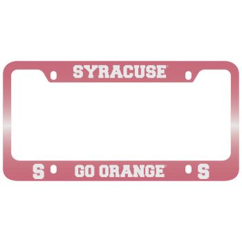 Syracuse University-Metal License Plate Frame-Pink