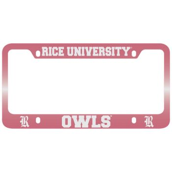 University of Tulsa-Metal License Plate Frame-Pink