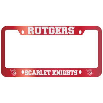 Rutgers University -Metal License Plate Frame-Red