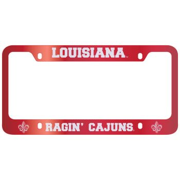 University of Louisiana at Lafayette-Metal License Plate Frame-Red
