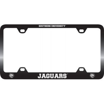 Southern University -Metal License Plate Frame-Black