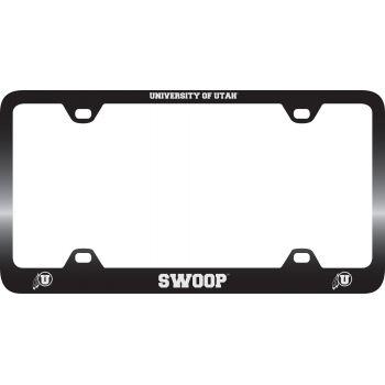 University of Utah-Metal License Plate Frame-Black