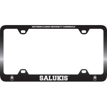 Southern Illinois University -Metal License Plate Frame-Black