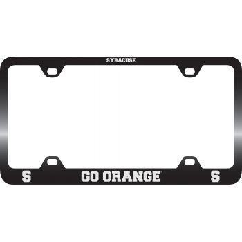Syracuse University-Metal License Plate Frame-Black