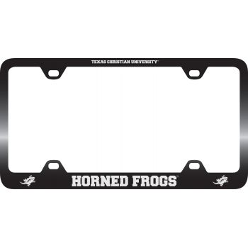 Texas Christian University -Metal License Plate Frame-Black