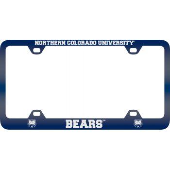 University of Northern Colorado -Metal License Plate Frame-Blue