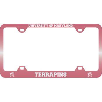 University of Maryland-Metal License Plate Frame-Pink
