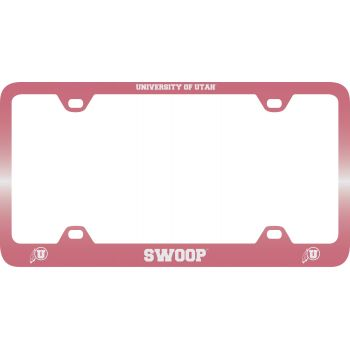 University of Utah-Metal License Plate Frame-Pink