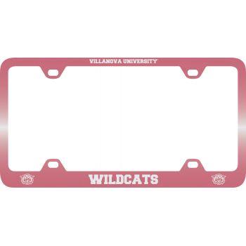 Villanova University -Metal License Plate Frame-Pink