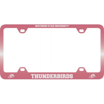 Southern Utah University -Metal License Plate Frame-Pink