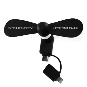 DePaul University-Silicone Cell Phone Fan-Micro/Lightning-Black