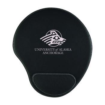 University of Alaska Anchorage-Padded Velour Mouse Pad-Black