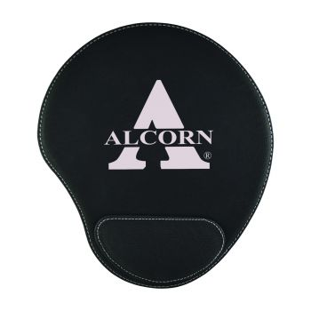 Alcorn State University-Padded Velour Mouse Pad-Black