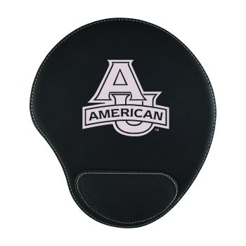American University-Padded Velour Mouse Pad-Black
