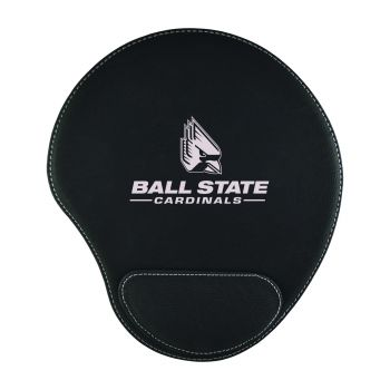 Ball State University-Padded Velour Mouse Pad-Black