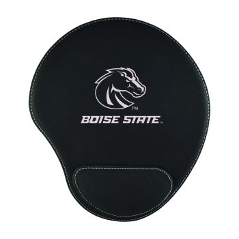 Boise State University-Padded Velour Mouse Pad-Black