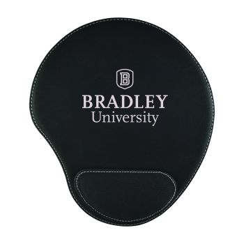 Bradley University-Padded Velour Mouse Pad-Black
