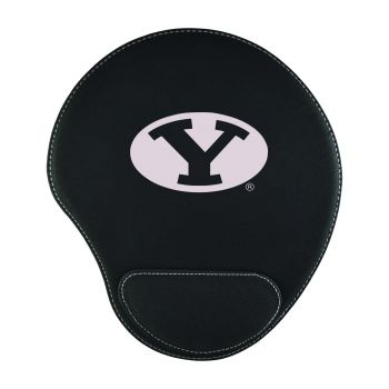 Brigham Young University-Padded Velour Mouse Pad-Black