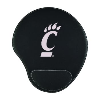 University of Cincinnati -Padded Velour Mouse Pad-Black