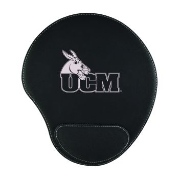 University of Central Missouri-Padded Velour Mouse Pad-Black