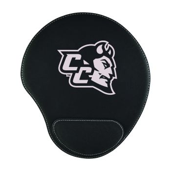 Central Connecticut University-Padded Velour Mouse Pad-Black