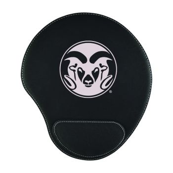 Colorado State University-Padded Velour Mouse Pad-Black