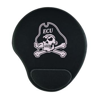 East Carolina University-Padded Velour Mouse Pad-Black