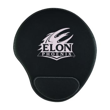 Elon University-Padded Velour Mouse Pad-Black
