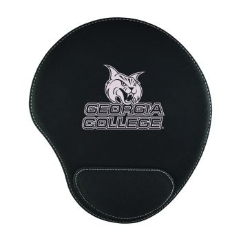 Georgia College-Padded Velour Mouse Pad-Black