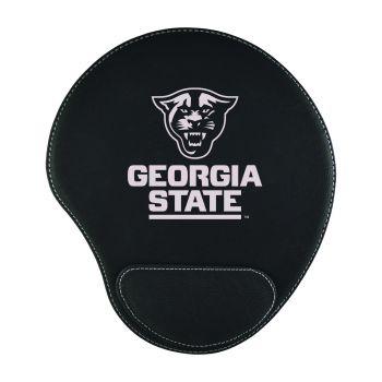 Georgia State University -Padded Velour Mouse Pad-Black
