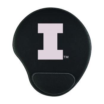 University of Illinois -Padded Velour Mouse Pad-Black
