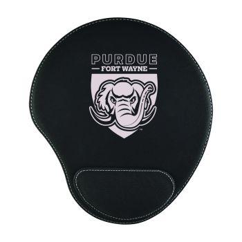 Indiana University, Purdue University Fort Wayne-Padded Velour Mouse Pad-Black