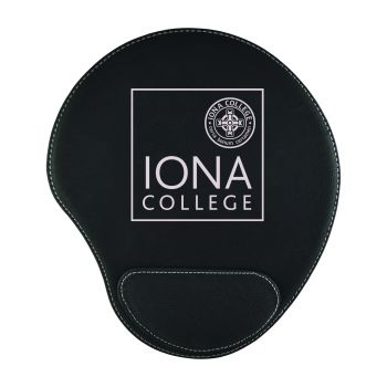 Iona College-Padded Velour Mouse Pad-Black